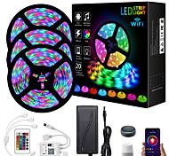 economico -ZDM® 3x5m Set luci Strisce luminose RGB 810 LED 2835 SMD 8mm 1 telecomando da 24Keys 1 cavi CC Connettore cavo 1 a 2 1 set Colori primari Natale Capodanno Controllo APP Accorciabile Feste 12 V