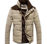abordables -Hommes de loisirs col montant fermeture éclair peau de pêche en cachemire outwear manteau tops épais peau de pêche doudoune manteau en coton m-4XL