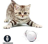 economico -Palla Giochi laser Giocattolo elettrico Prodotti per gatti Gattino 1 pc Rotondi Adatto agli animali Illuminazione Con LED Esercizio per animali domestici ABS + PC Regalo Giocattolo per animali