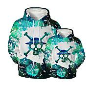 abordables -Regard de la famille Lots de Vêtements pour Famille Sweat à capuche et Sweat Graphique 3D Print Animal Manches Longues Imprimé Vert Actif