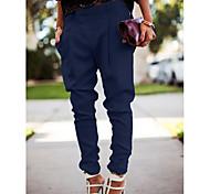 abordables -Femme Charme simple Chic de Rue Casual Quotidien Travail Jogger Pantalon Couleur Pleine Toute la longueur Style classique Classique Couleur unie Blanche Noir Bleu Gris