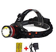abordables -lampe frontale étanche zoomable boruit lampe de poche xml-t6 lampe frontale à led 1600 lumens avec 3 modes réglables lampe de poche mains libres pour la pêche, la chasse, la randonnée, le camping, la