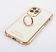 economico -telefono Custodia Per Apple Integrale iPhone 12 iPhone 12 Pro Max iPhone 12 Pro iPhone 12 Mini Supporto ad anello Mattonella Metallo Alluminio
