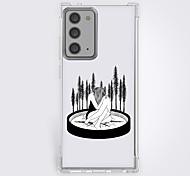 abordables -Animé Noir & blanc Cas Pour Samsung S20 Plus S20 Ultra S20 Modèle unique Étui de protection Antichoc Coque TPU