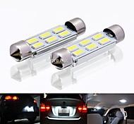 abordables -Automatique LED Éclairage intérieur 36 mm Ampoules électriques 120 lm SMD 5730 2 W 6 Pour 2 Pièces