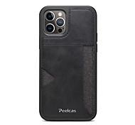 economico -telefono Custodia Per Apple Per retro Custodia in pelle iPhone 12 Pro Max 11 SE 2020 X XR XS Max 8 7 Porta-carte di credito Resistente agli urti Tinta unica pelle sintetica