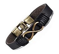 abordables -croix / infini / ancre hommes bracelets en alliage de cuivre vintage tressé à la main bracelets en cuir bracelet corde wrap (infini)