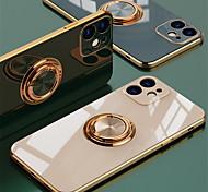 economico -telefono Custodia Per Apple Per retro Silicone iPhone 12 Pro Max 11 SE 2020 X XR XS Max 8 7 Resistente agli urti Con supporto Placcato Tinta unita TPU