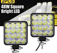 abordables -2pcs ampoules de voiture 48 W 16 lampes de travail à LED pour tous les modèles universels toutes les années