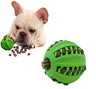 abordables -balle de friandise pour chien iq - jouet interactif de distribution de friandises pour chien balle de chien en caoutchouc à alimentation lente jouet pour chien de distribution de nourriture pour