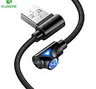 economico -FLOVEME Micro USB Cavi Normale Trasmissione dati Caricatore del telefono 2 A 1.0m (3 piedi) Alluminio Per Samsung Xiaomi Huawei Appendini per cellulare
