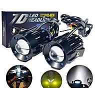 economico -Motocicletta LED Lampada frontale Lampadine CSP 1 Per Moto Tutti gli anni 2 pezzi