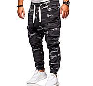 economico -Per uomo Carico Quotidiano Pantaloni Carico tattico Pantaloni Mimetico Lunghezza intera Nero