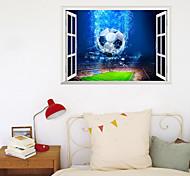 economico -3d wall paste camera dei bambini sfondo decorazione finta finestra calcio coppa tema incollare camera da letto dormitorio portico pasta creativa 70 * 50 cm