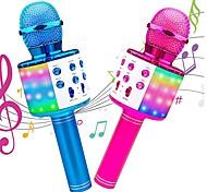 economico -Microfono wireless per karaoke Macchina karaoke portatile Bluetooth con luce a LED Compatibile con Android / iPhone Plastica Ragazzi e ragazze Bambino Adulto 2 pcs Regali di laurea Giocattoli Regalo