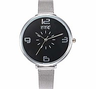 abordables -ccq casual quartz bracelet en acier inoxydable nouvelle montre bracelet montre-bracelet analogique (noir)