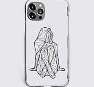 abordables -Imprimés Photos Géométrie Cas Pour Pomme iPhone 12 iPhone 11 iPhone 12 Pro Max Modèle unique Étui de protection Antichoc Coque TPU