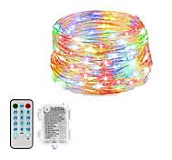 abordables -guirlande lumineuse 20m 200leds lumières étoilées étanches à piles avec télécommande 4 modes de musique& 8 modes d'éclairage scintillent des lumières pour le festival de dîner de mariage de