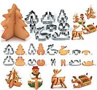economico -8 pezzi 3d scenario natalizio stampo per biscotti stampo set decorazione per biscotti in acciaio inossidabile stampo per torta fondente