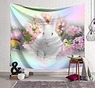 abordables -joyeuses pâques joyeuses pâques tapisserie murale art décor couverture rideau suspendu maison chambre salon décoration polyester lapin lapin fleur oeuf