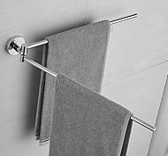 abordables -Barre porte-serviette Adorable / Créatif / Multifonction contemporain / Moderne Acier inoxydable Barre à 2 tours Montage mural