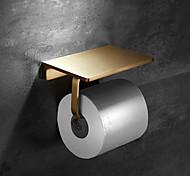 abordables -Porte Papier Toilette / Etagère de Salle de Bain Nouveau design contemporain Laiton 1 pc - Salle de Bain Montage mural