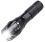 abordables -Lampes Torches LED Imperméable Rechargeable 2000 lm LED LED Émetteurs 5 Mode d'Eclairage Imperméable Fonction Zoom Rechargeable Faisceau Ajustable Résistant aux impacts Surface antidérapante Camping