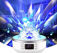 abordables -avec haut-parleur de musique Bluetooth Projecteur LED rotatif Couleurs dimmables Couleur aléatoire Mariage Soirée Cadeau Lumière du projecteur
