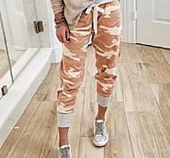 abordables -Femme basique Joggings Pantalon Imprimé Rouge orangé Camouflage vert armée Gris
