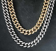 economico -collana da uomo a maglia cubana catena hip hop catena oro argento 45/50/55/60 cm collana gioielli per strada