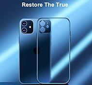 economico -telefono Custodia Per Apple Per retro iPhone 12 Pro Max 11 SE 2020 X XR XS Max Placcato Effetto ghiaccio Transparente Transparente TPU