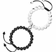 abordables -couples magnétiques son sien bracelets correspondant relation amitié bracelet couples bijoux cadeaux pour femmes hommes lui petit ami copine bf gf amis amant
