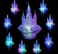abordables -Kit de construction de modèles Puzzle 3D en cristal Cristal Brillant A Faire Soi-Même Architecture Château Plastique 105 pcs Enfant Adulte Fille Jouet Cadeau / Musique et Lumière