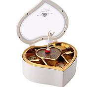 abordables -Boîte à musique Boîte à musique ballerine Coffret à bijoux musical Boîte à musique en bois Boîte à musique antique Danseur de boîte à musique Articles d'ameublement Unique Plastique Femme Unisexe