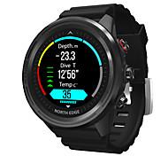 abordables -NORTH EDGE Range5 Homme Montre Connectée Bluetooth Imperméable Ecran Tactile GPS Moniteur de Fréquence Cardiaque Thermomètre Podomètre Rappel d'Appel Moniteur de Sommeil Rappel sédentaire Fonction