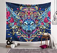 abordables -Tapisserie murale art décor couverture rideau suspendu maison chambre salon décoration polyester tête de loup aigle casque