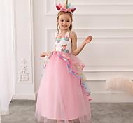 abordables -robe de princesse enfant fille longue robe de tulle fleur filles licorne