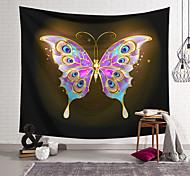 abordables -Tapisserie murale art décor couverture rideau suspendu maison chambre salon décoration polyester violet or papillon