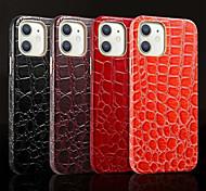 economico -telefono Custodia Per Apple Per retro Custodia in pelle iPhone 12 Pro Max 11 SE 2020 X XR XS Max 8 7 Resistente agli urti Con onde Tinta unica pelle sintetica
