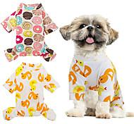economico -Gatto Cane T-shirt Vestiti del cucciolo Cosplay Matrimonio Abbigliamento per cani Vestiti del cucciolo Abiti per cani Giallo Chiaro Bianco Giallo Costume per ragazza e ragazzo cane Cotone S M L XL XXL