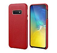 economico -telefono Custodia Per Samsung Galaxy Per retro Custodia in pelle S10 S10 + Galaxy S10 E Resistente agli urti Tinta unica vera pelle