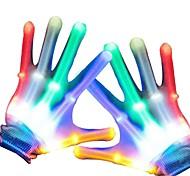 economico -guanti magici lampeggianti a led per bambini adulti bagliore nel buio illuminano i giocattoli di illuminazione della punta delle dita per i bambini novità articoli natalizi