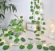 abordables -2m 20leds nouvelle feuille de bégonia LED guirlandes lumineuses à piles guirlandes de vacances de noël mariage salon décoration de jardin lumière (livré sans batterie)