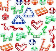 economico -Set Speed Cube 3*24 pcs Cubo magico Cube intuitivo 3*3*3 Tangram Gioco educativo Serpente cubo Cubo a puzzle Adesivo liscio Per bambini Giocattoli Regalo