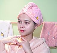 abordables -serviette de cheveux wrap sec cheveux chapeau de bain bonnet de cheveux serviette de séchage avec bouton