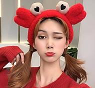 abordables -Accessoires de salle de bain bandeau de crabe en peluche dessin animé mignon bande de cheveux lavage visage bandeau one-pc