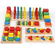 abordables -Outil pédagogique Montessori Jeux Avec Pions en Bois Jouets Educatifs Mathématiques 8-14 pcs compatible En bois Legoing Frais Éducation Garçon Fille Jouet Cadeau / Enfant / Développer la créativité