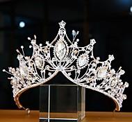 economico -Lusso Da principessa Lega diademi con Perle / Cristalli / Strass 1 pezzo Matrimonio / Occasioni speciali Copricapo