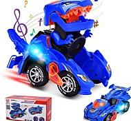 abordables -déformer les jouets de dinosaures pour garçons filles, 2 en 1 voitures de jouet de dinosaure pour les enfants, transformer la voiture menée par dinosaure avec de la musique, jouets automatiques de