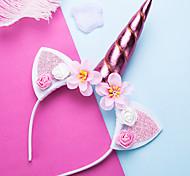 economico -1 pz Bambino (1-4 anni) Da ragazza Attivo Unicorno Tinta unita Tinta unita / Colorata Poliestere Accessori per capelli Bianco / Rosa / Fucsia Taglia unica